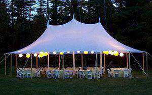Tenting without walls may be nice when a light drizzle is expected and no winds | Photo from Ventura Rental Party Center