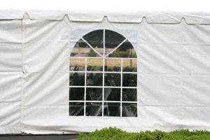 Tents can have windows, too! Photo from Ventura Rental Party Center