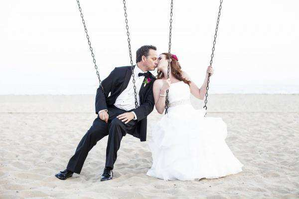 Beach Swings at Santa Barbara Wedding- Rob Chan Photography