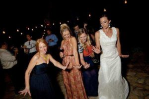 Bride & Friends Dancing