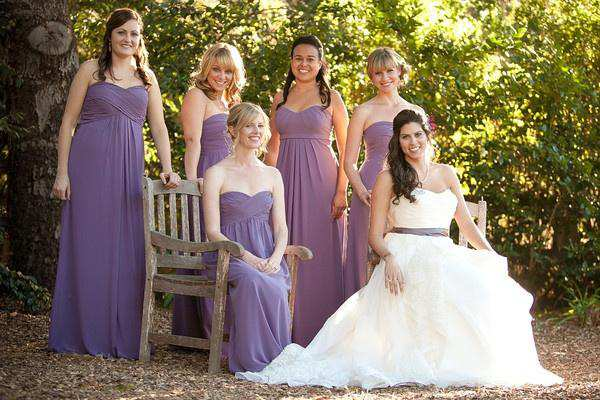 Bridesmaids in Lavender Photography By Daniel Ballesteros