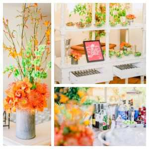 CC Florals Orange and Display and partial bar