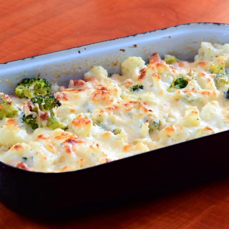 Cauliflower Broccoli Bake