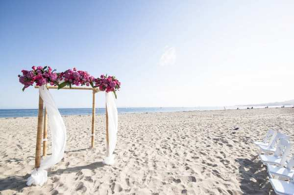 Chuppa for a Santa Barbara Beach Wedding- Rob Chan Photography
