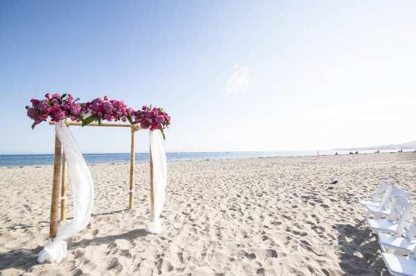 Chuppa For A Santa Barbara Beach Wedding Rob Chan Photography