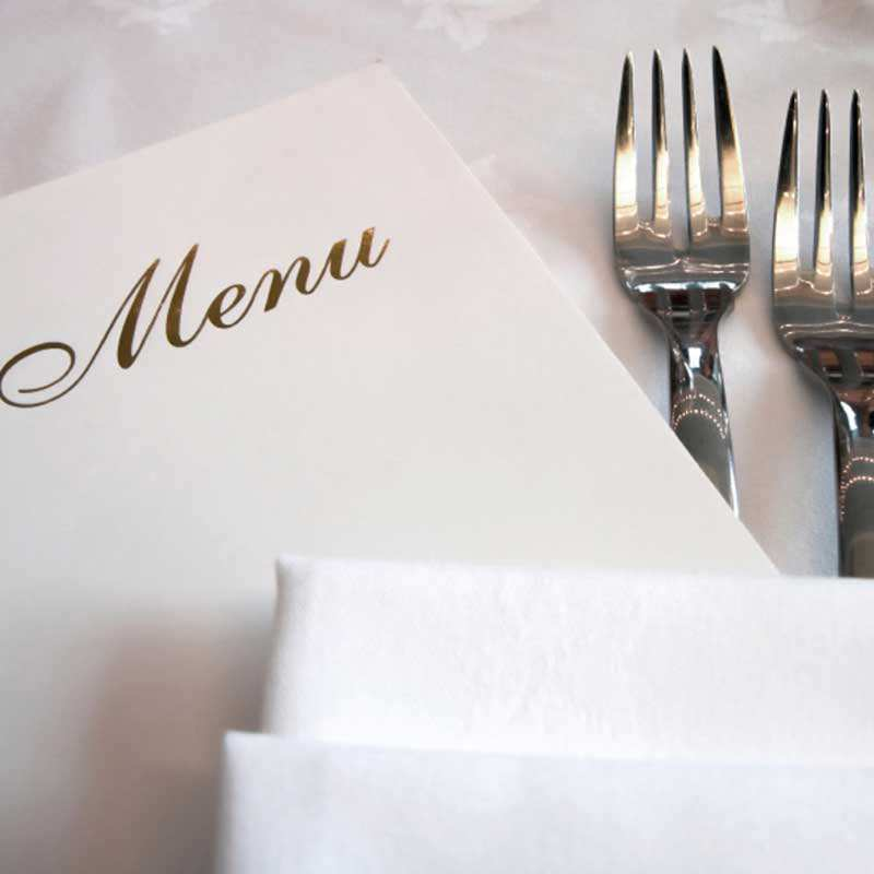 Santa Barbara Wedding Caterer Menu