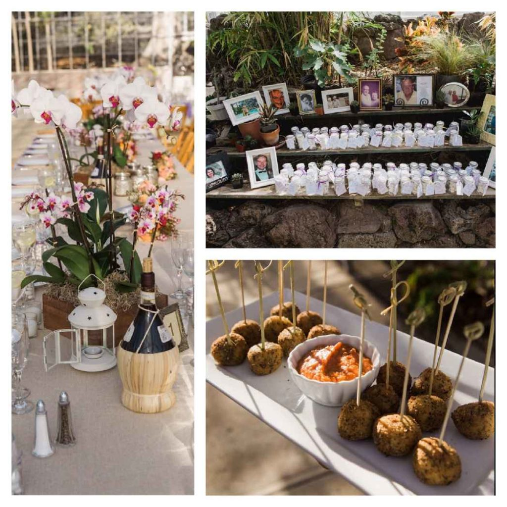 Orchid farm wedding