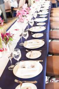 Navy and Pink Table Setup- Rob Chan Photography