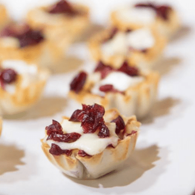 Cranberry & Brie Tartlets