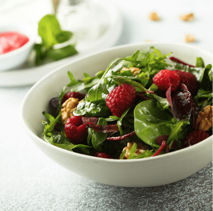 Raspberry & Blue Cheese Salad