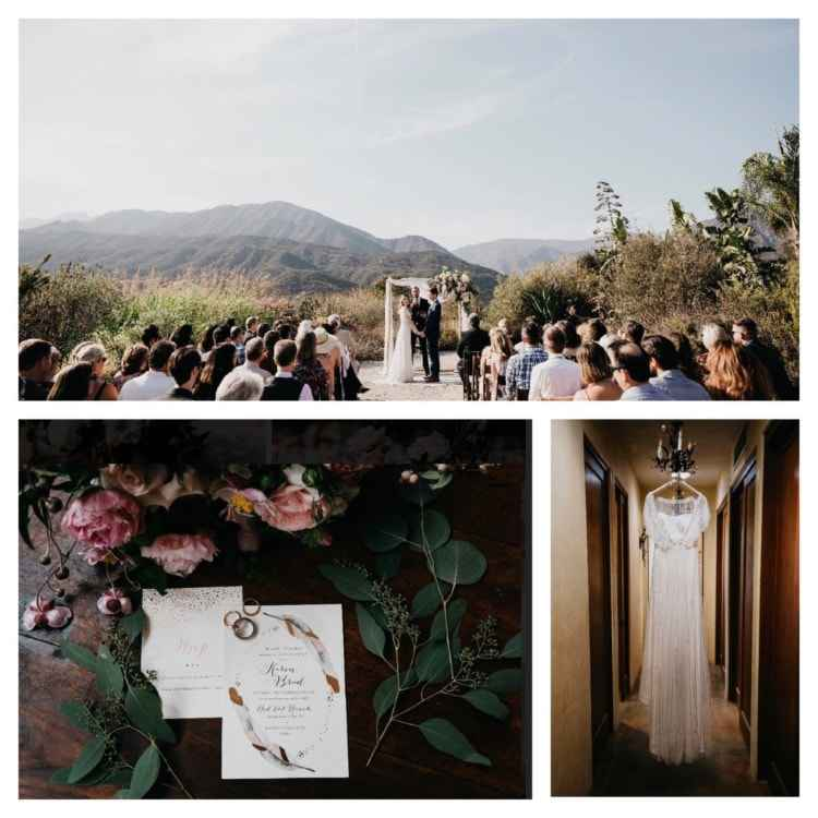 ojai wedding cards and dress
