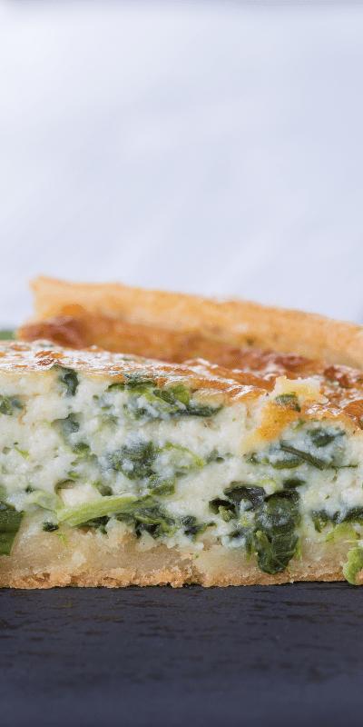 Spinach Quiche (freezer friendly)